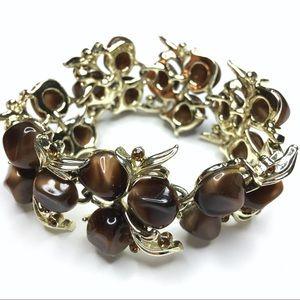 Vintage \ Brown Gem Bracelet